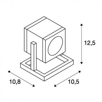 slv cubix bodenleuchte anthrazit gu10 132835 stm. Black Bedroom Furniture Sets. Home Design Ideas