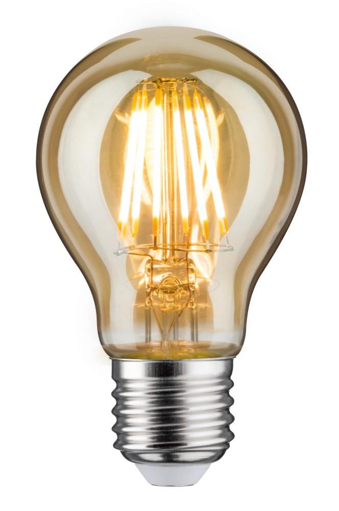 paulmann 28522 led vintage agl 6w e27 gold goldlicht. Black Bedroom Furniture Sets. Home Design Ideas