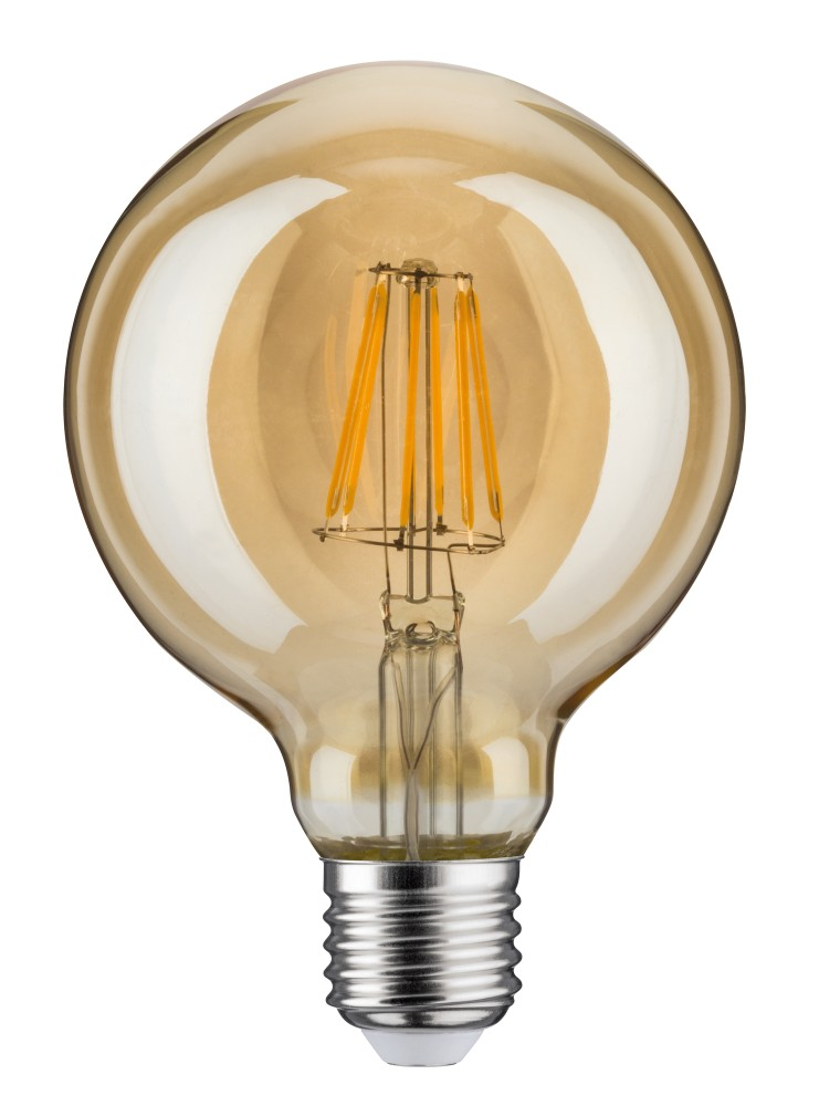 paulmann 28521 led vintage globe 95 6w e27 gold goldlicht dimmbar. Black Bedroom Furniture Sets. Home Design Ideas