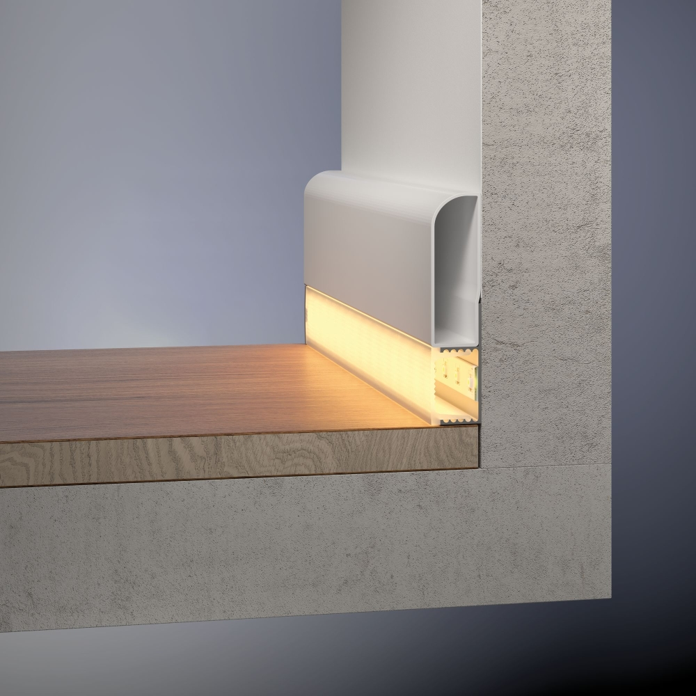 paulmann 70863 socle profil mit diffusor 200cm alu eloxiert. Black Bedroom Furniture Sets. Home Design Ideas