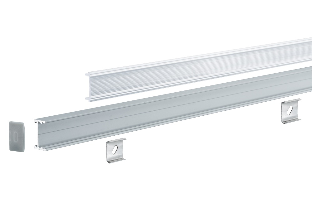paulmann 70809 square profil mit diffusor 1m alu eloxiert. Black Bedroom Furniture Sets. Home Design Ideas
