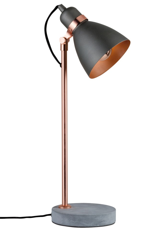 tischleuchte neordic orm 1 flammig kupfer beton stm. Black Bedroom Furniture Sets. Home Design Ideas