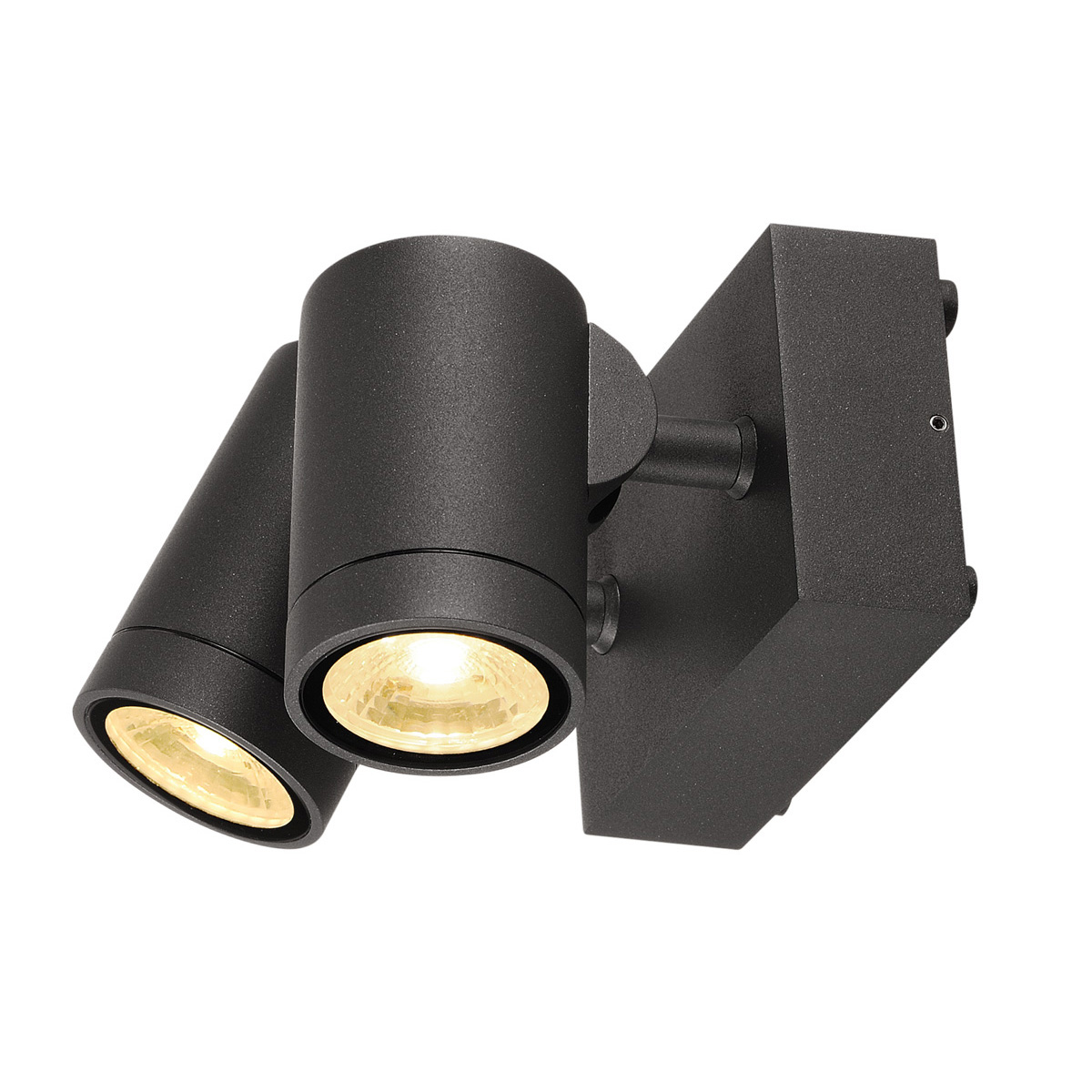 slv helia wandleuchte led 2x8w anthrazit 233255 stm. Black Bedroom Furniture Sets. Home Design Ideas