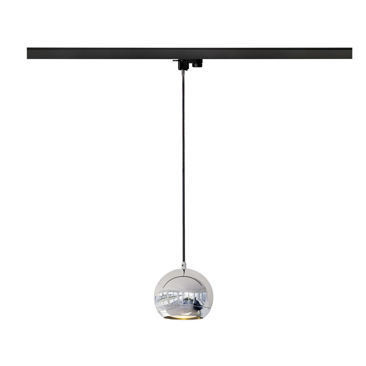 slv light eye pendelleuchte qpar111 chrom inkl 3 phasen adapter 153112 stm. Black Bedroom Furniture Sets. Home Design Ideas