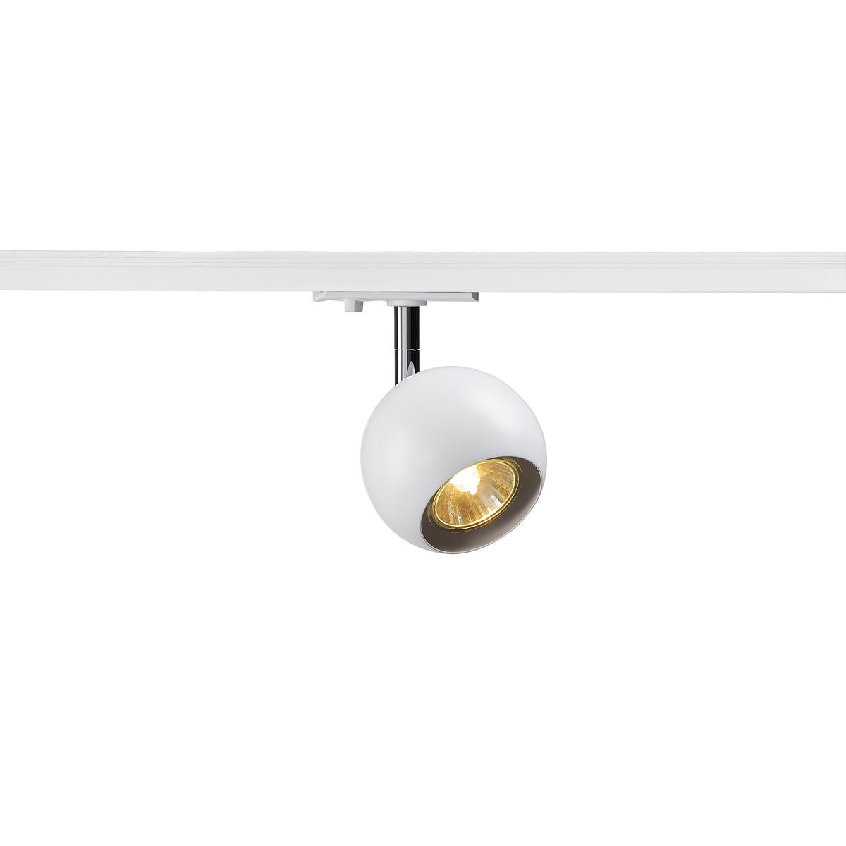 slv light eye spot f r 1 phasen stromschiene gu10 wei chrom 144011. Black Bedroom Furniture Sets. Home Design Ideas