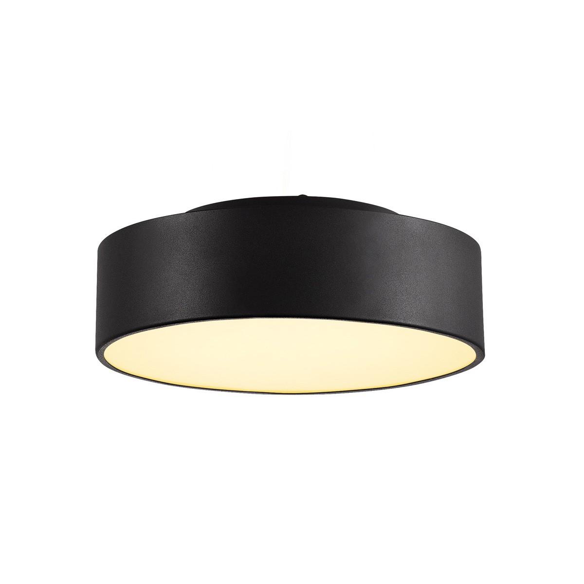 slv medo 30 led deckenleuchte schwarz 12w 3000k optional abpendelbar 135020. Black Bedroom Furniture Sets. Home Design Ideas