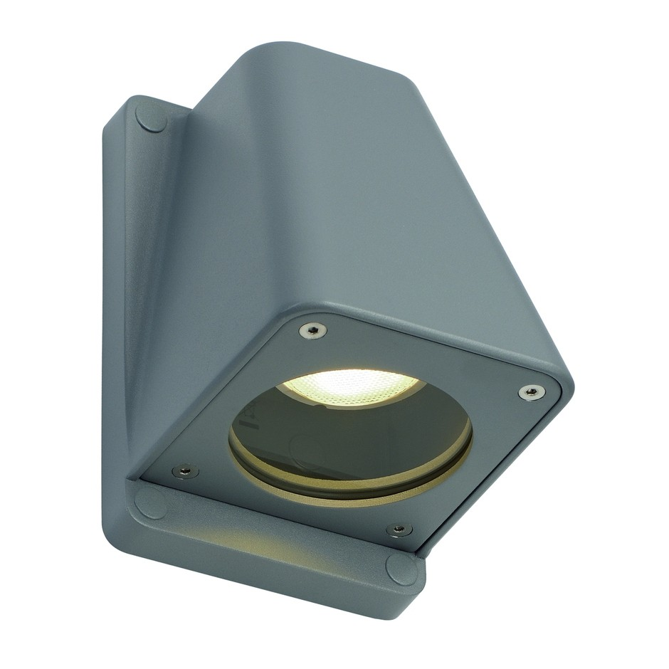 slv wallyx gu10 wandleuchte silbergrau 227194 stm. Black Bedroom Furniture Sets. Home Design Ideas