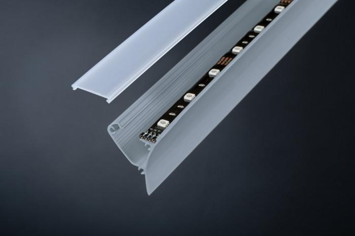 paulmann 70440 corner profil 100 cm grau kunststoff stm. Black Bedroom Furniture Sets. Home Design Ideas