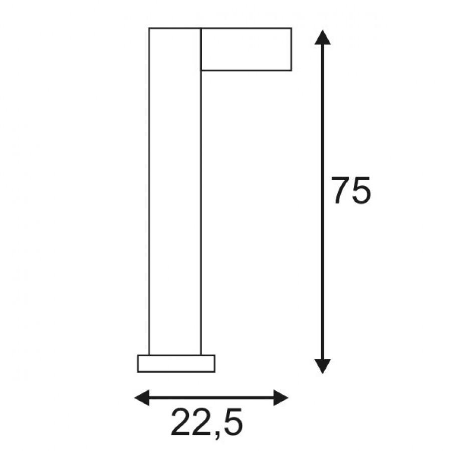 slv quadrasyl stehleuchte sl 75 eckig gx53 anthrazit 232295 stm. Black Bedroom Furniture Sets. Home Design Ideas